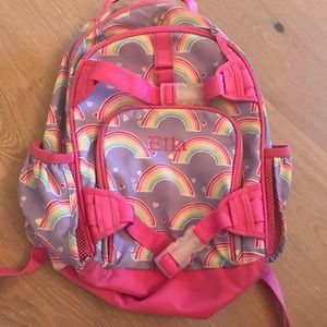 Pottery Barn Kids Ella backpack monogram rainbow